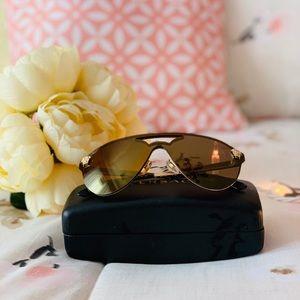 Versace Gold Glam Medusa Sunglasses